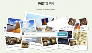 screenshot pf photon free image search site