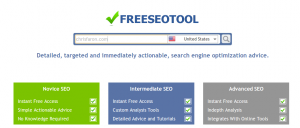 freeseotool homepage screenshot