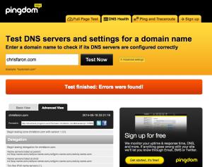 Pingdom DNS checker tool