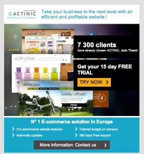 actinic e-commerce software newsletter 2014-09-14