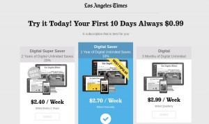 free trial LA Times PPC LANDING PAGE