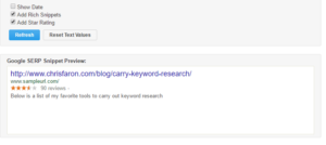Google SERP Preview Tool with rich snippets