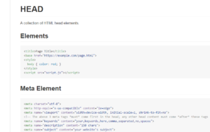 Resource of all current HTML head elements