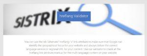 Sistrix hreflang Validator