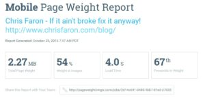Check how much weight your images are on your web page