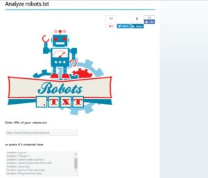 Seobook robots.txt analyzer tool
