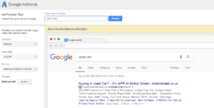 Preview Tool – Google AdWords