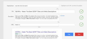 SERPio is an easy to use and free tool for you to craft great Search Engine Result Page (SERP) organic search listings