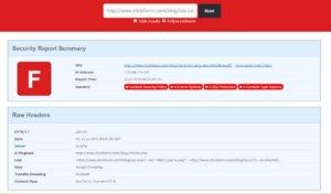 securityheaders.io server header checker