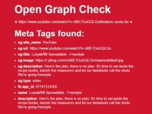 Test your Open Graph Tags online