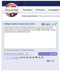 Intelligent speller and grammar checker tool