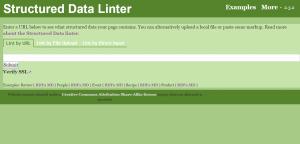structured data checker
