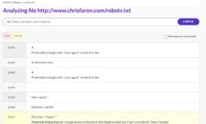 Check your robots.txt for errors with this tool