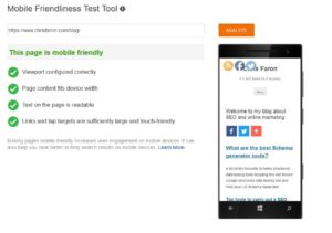 Bing Mobile Friendliness Test Tool to test JavaScript sites